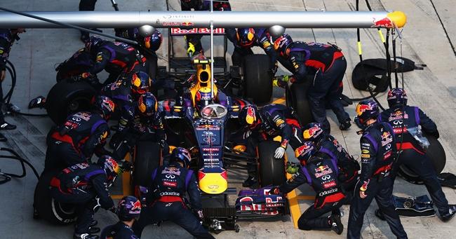 Mark Webber, pit stop, GP Malasia 2013