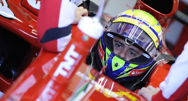 Felipe Massa en los test de pretemporada 2013