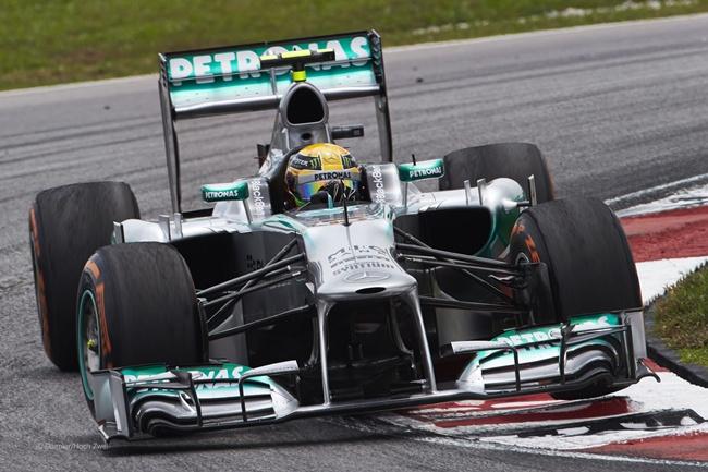 Lewis Hamilton en Sepang 2013