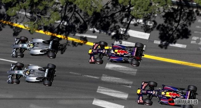 Salida del GP de Mónaco 2013