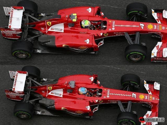 Comparación de los Ferrari en Barcelona 2013