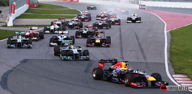 Salida GP Canadá 2013 F1