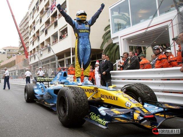 Fernando Alonso gana en Mónaco 2006