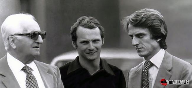 Enzo Ferrari, Lauda, Montezemolo, Ferrari