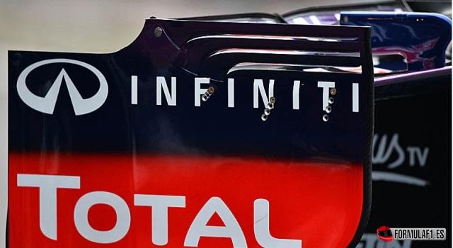 Alerón trasero del Red Bull en Spa 2013