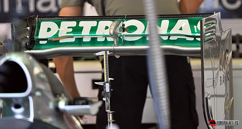 Alerón trasero del Mercedes en Spa 2013