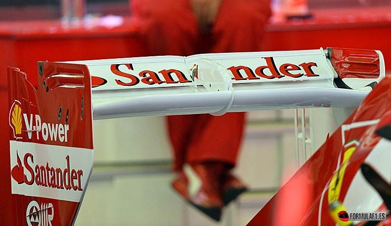 Alerón trasero del Ferrari en Spa 2013