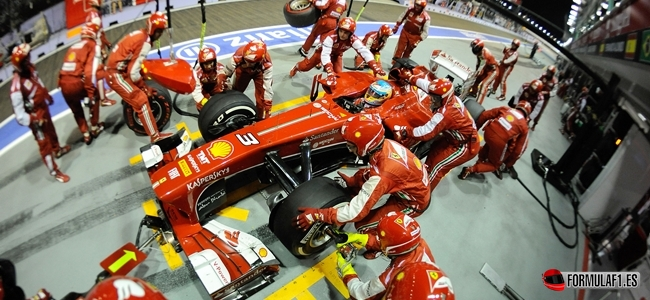 Ferrari, pit stop, Alonso