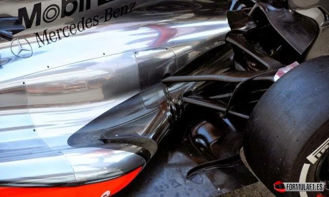 Nervio en el suelo del McLaren en Suzuka 2013