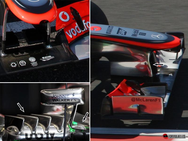 Alerón delantero del McLaren en Suzuka 2013