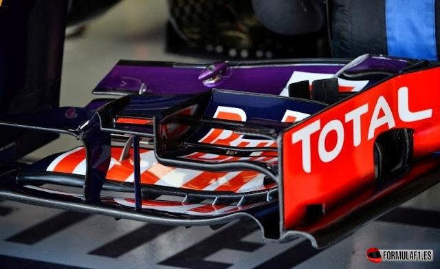 Alerón delantero del Red Bull en Suzuka 2013