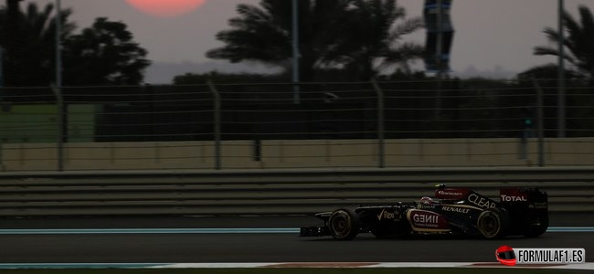 Romain Grosjean, Lotus, GP Abu Dabi 2013
