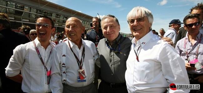 Bernie Ecclestone and Jean Todt, F1