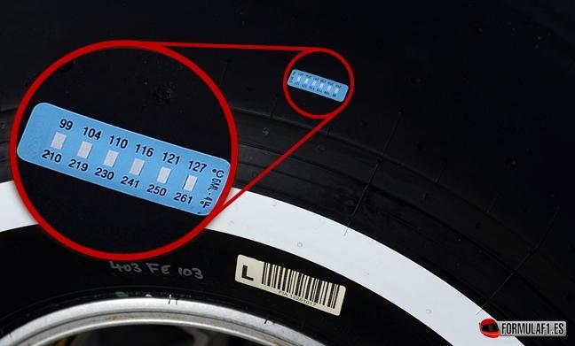 Pirelli usará una etiqueta en los neumáticos como sensor de temperatura