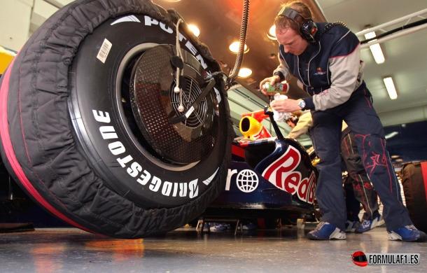 Calentadores de neumáticos F1