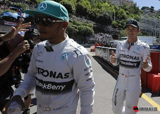 Lewis Hamilton y Nico rosberg en Mónaco 2014