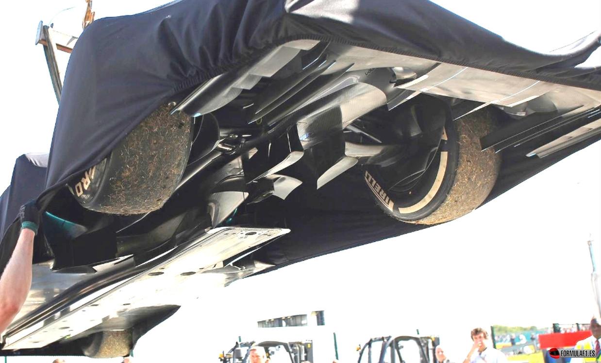 Mercedes W05 en Silverstone 2014