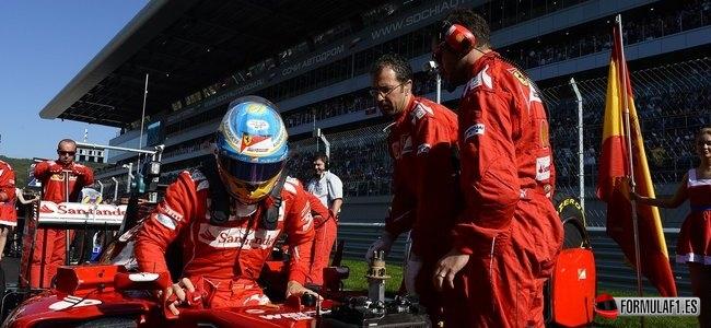 Fernando Alonso, Ferrari, GP Rusia 2014