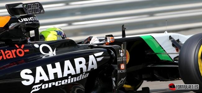 Force India info wing Abu Dabi test