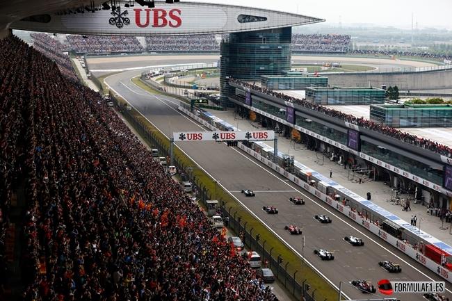 Salida GP de China 2014