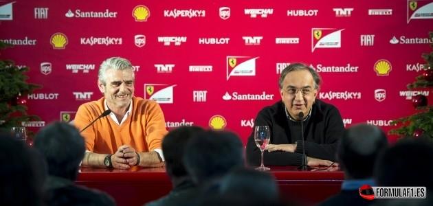 Sergio Marchionne, Maurizio Arrivabene, Ferrari
