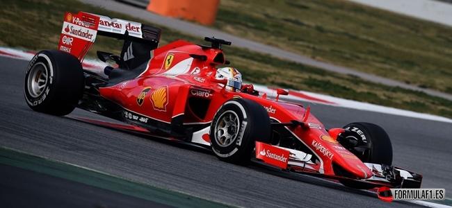 Vettel, Ferrari, Barcelona, Test
