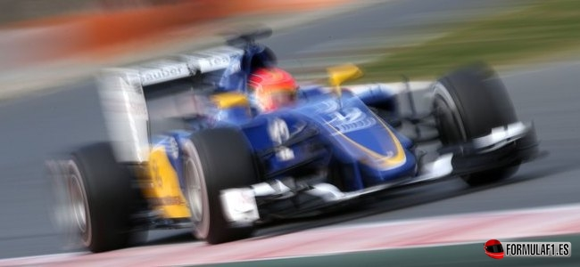 Felipe Nasr, Sauber, Test Barcelona 2015