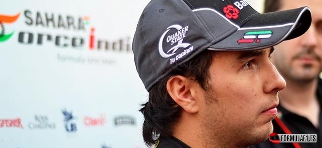 Sergio Pérez, Force India, Test Barcelona 2015