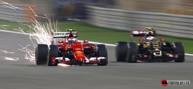 Raikkonen, Grosjean, Baréin 2015