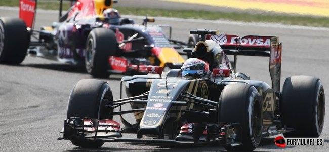 Romain Grosjean, Lotus, GP China 2015