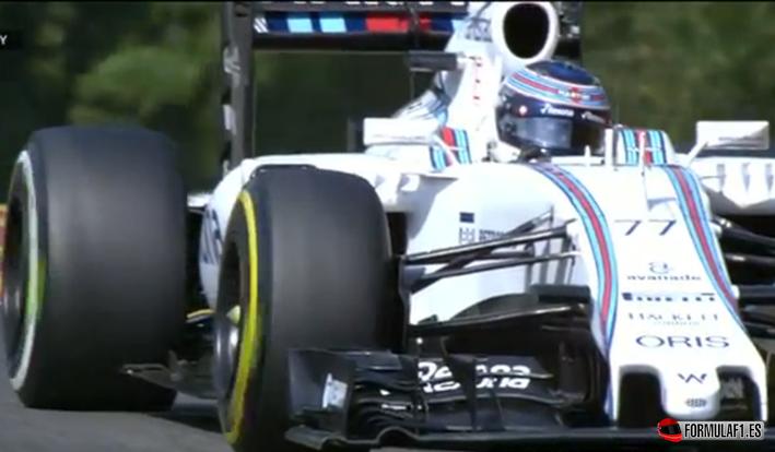 Bottas con neumáticos erróneos. GP Bélgica 2015