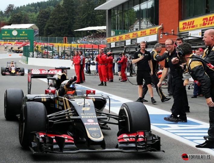 Grosjean. GP Bélgica 2015