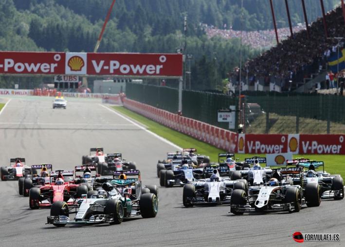 Salida GP Bélgica 2015