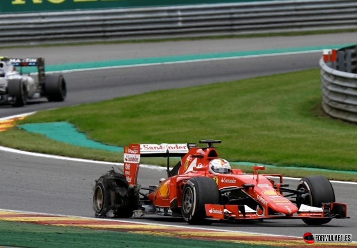 Vettel. GP Bélgica 2015