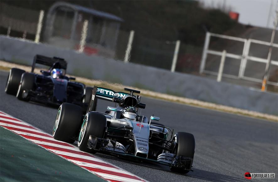 Rosberg Verstappen martes Montmelo