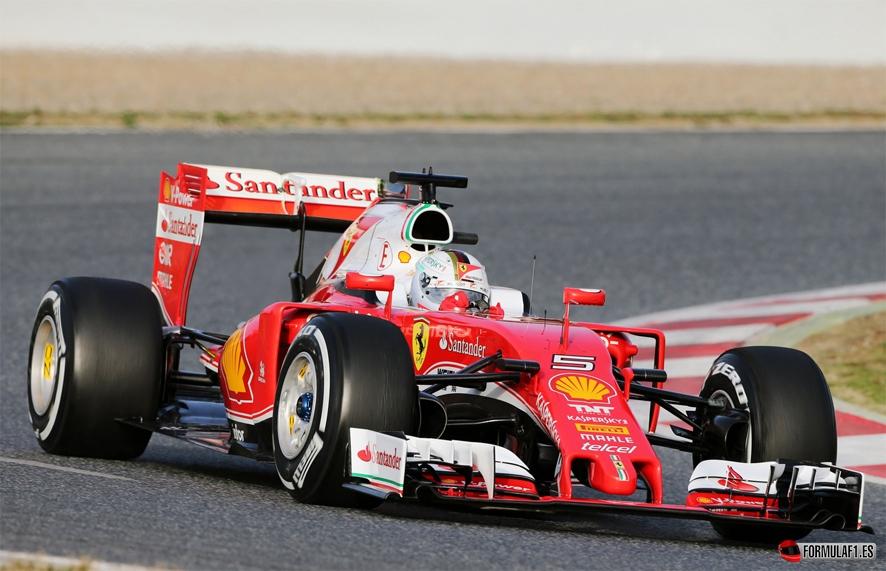 Vettel martes Montmeló