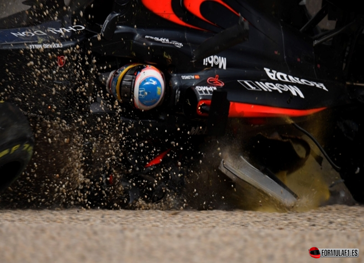 Accidente Alonso. GP Australia 2016