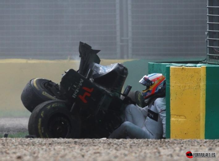 Alonso, accidente. GP de Australia 2016
