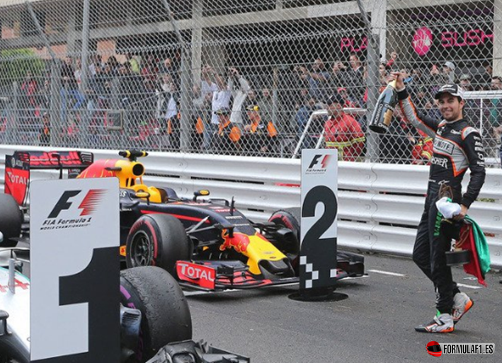 Pérez. GP Mónaco 2016