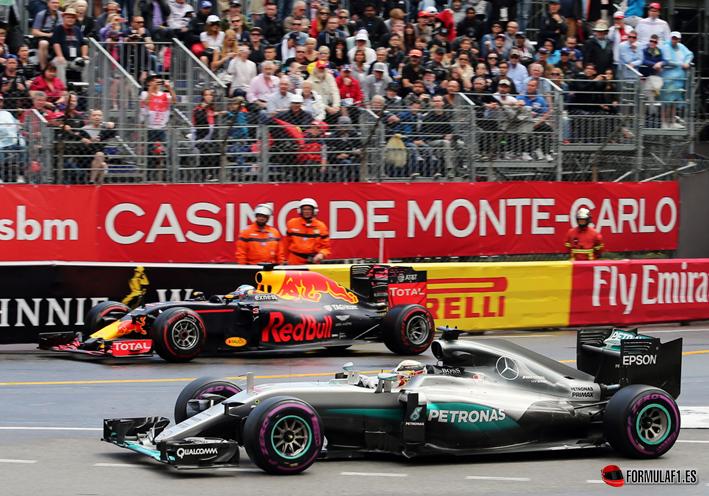 Ricciardo y Hamilton. GP Mónaco 2016