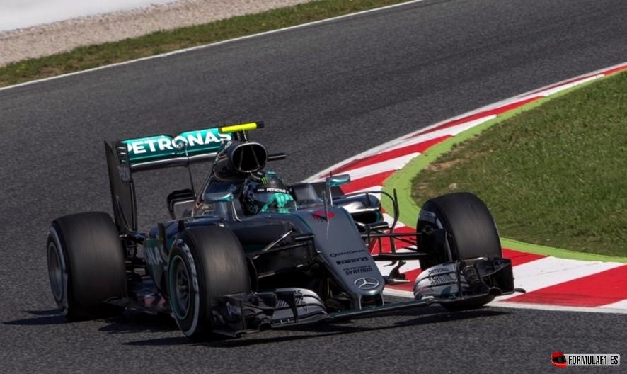 Rosberg fp2 montmelo