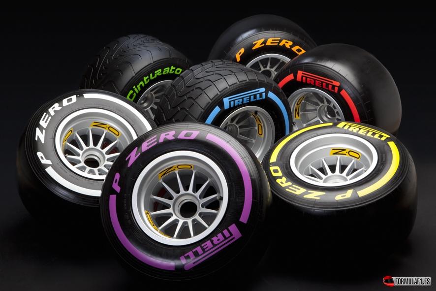 Evolución de los neumáticos en Fórmula 1