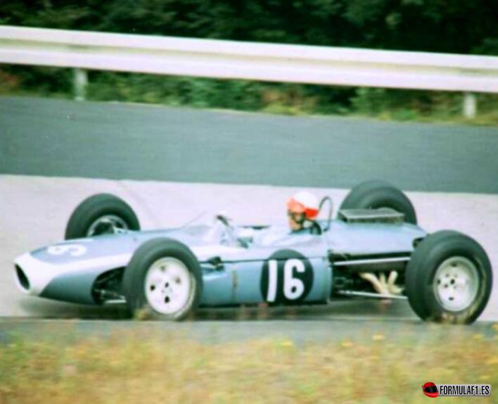 John Taylor en su Brabham-BMR. GP Alemania 1966