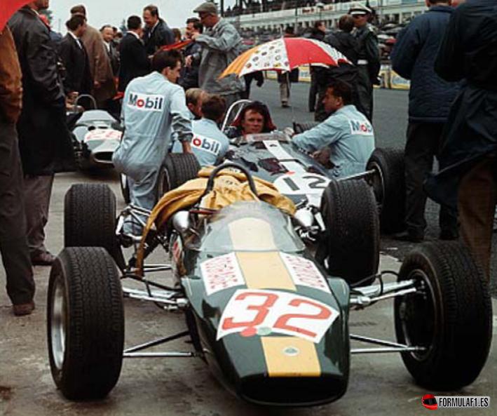 Lotus de Piers Courage en Categoría F-2. GP Alemania 1966