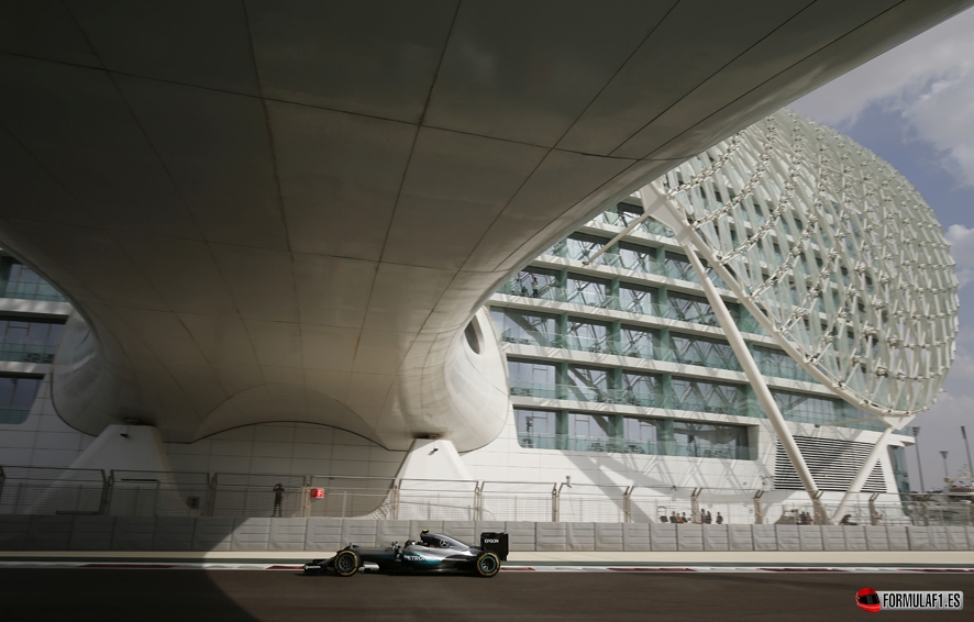 Formel 1 - MERCEDES AMG PETRONAS, Großer Preis von Abu Dhabi 2016. Nico Rosberg ; Formula One - MERCEDES AMG PETRONAS, Abu Dhabi GP 2016. Nico Rosberg;