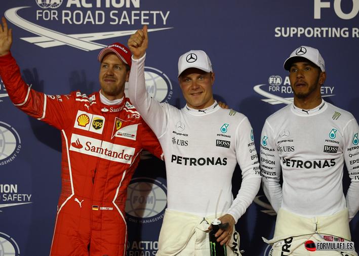 GP de Baréin 2017 - Calificación: Bottas sorprende a Hamilton y Vettel
