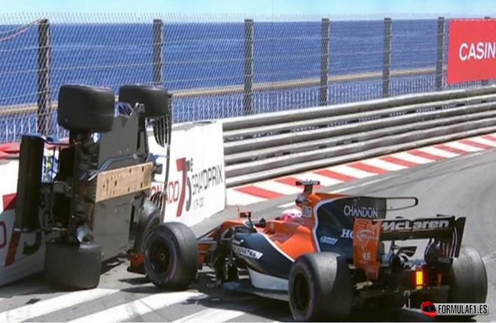 Accidente Button y Wehrlein. GP de Mónaco 2017