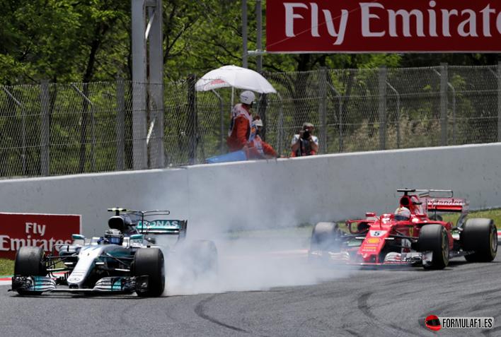Bottas y Vettel. GP de España 2017