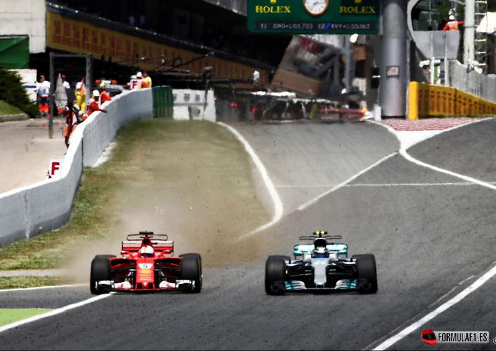 Hamilton y Vettel. GP de España 2017