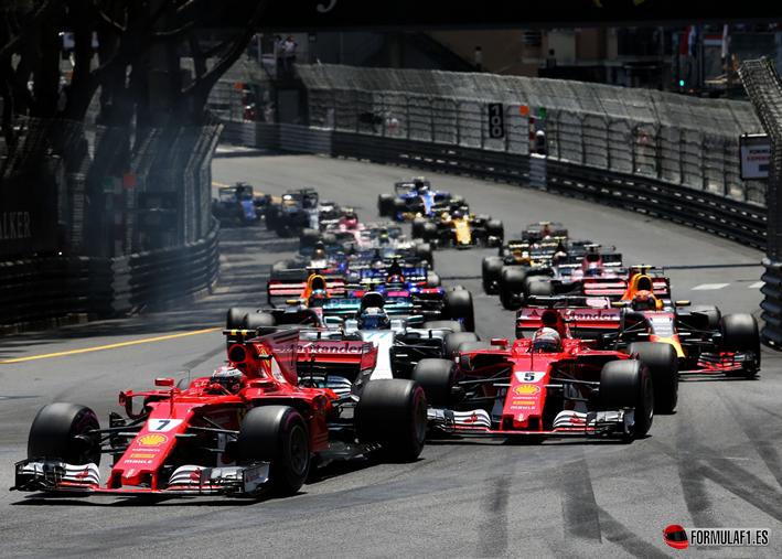 Salida GP de Mónaco 2017